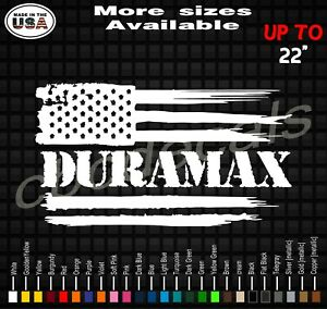 Duramax American Flag Vinyl Decal Sticker Duramax Diesel Truck Decals
