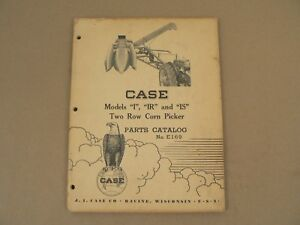 Case Models I Ir Is Two Row Corn Picker Service Repair Parts Catalog 1950
