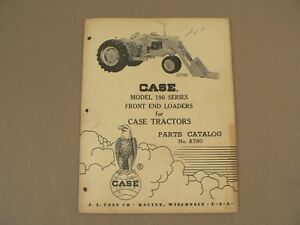 Model 190 Front End Loaders For Case Tractors Service Repair Parts Catalog 1959