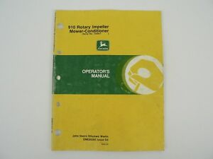 John Deere Owners Manual 910 Rotary Impeller Mower Conditioner Trouble Shoot