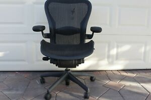 Herman Miller Aeron Office Chair Size C large Adjustable With Lumber Support