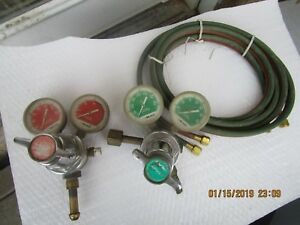 Linde Acetylene Pressure Regulator Gauge Oxygen Untested Used Welding