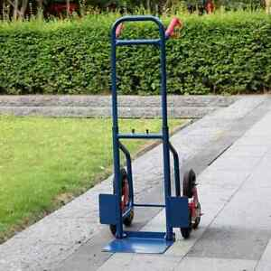 Heavy Duty Warehouse Appliance Cart Stair Climbing Moving Dolly Hand Truck Blue