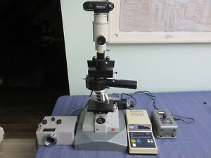 Leitz Dialux Reflected Light Microscope With Nikon Camera Many Accessories