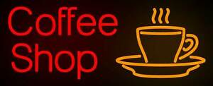 Coffee Shop Neon Sign Display Caf Bar Station Bakery Store Real Neon Light Z506