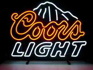 Coors Light Neon Sign Display Beer Bar Pub Mancave Sign Real Neon Custom Z022