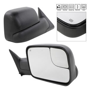 Pair Towing Side Mirrors Power Heated For 1998 2001 Dodge Ram 1500 2500 3500
