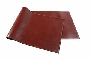 Ninepeak Ultra smooth Pu Leather Desk Mat 17 X 48 1 8 Thick dark Brown