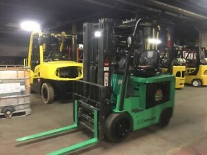 2015 5000 Lb Electric Forklift With Side Shift Triple Mast And Fork Positioners