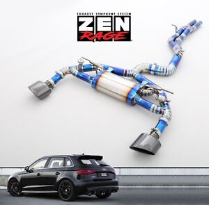 Audi Rs3 ttrs Valved Exhaust System Zen rage Catback 2015 To 2020