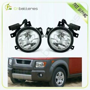 Fog Lights Front Lamps Clear Lens Pair Complete Kit For 2003 2006 Honda Element