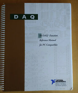 National Instruments Ni daq Software Library For Labwindows With Manual
