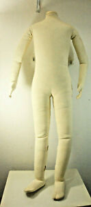 Dress Form Mannequin Fully Posable Child 7yo Hang Retail Standing Badsf Display