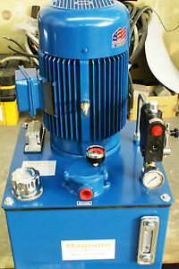 Hydraulic Power Unit 10 H p Electric 10 Gpm Pump Three Phase Or