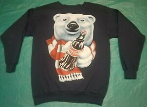 Coca Cola Sweater Vintage Polar Bear 90s Crewneck XL Licensed