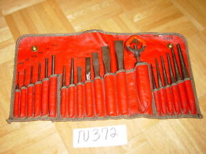Snap On Tools 21 Piece Punch Chisel Set In Kit Bag C 211a