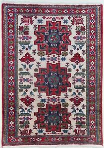 Antique Caucasian Shirvan Akstafa Kazak Triple Medallion Birds Tribal Rug W Tag