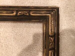 Antique 32x22 Hand Carved Newcomb Macklin Style Arts Crafts Picture Frame C