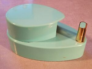 Vintage Teal Blue Side Cut Tape Dispenser Mid Century Home Office Retro Decor