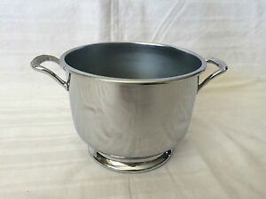 Art Deco Wine Champagne Ice Bucket Chiller Chromium Crowell Silver