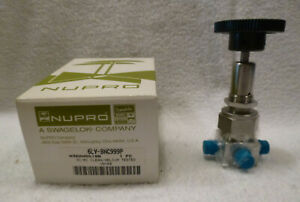 Swagelok Nupro 6lv bnc999p 3 port Bellows Sealed Valve 3 8 Tube Butt Weld