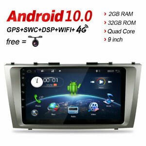 32g For Toyota Camry 2006 2011 Android 9 0 Car Stereo Radio Gps Bt Dab Usb Obd
