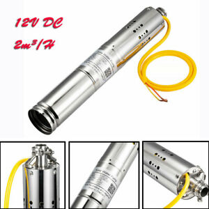 Water Pump Deep Well 12v Dc 2m3 h Farm ranch Submersible Bore Hole For Watering