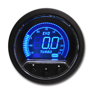 52 Mm Electronic Boost Controller Red Blue Lcd Digital Display 12 V Bar