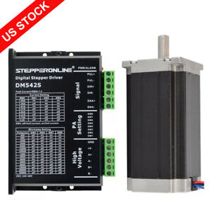 1 Axis Cnc Kit 425oz in Nema 23 Stepper Motor Driver 4 2a Cnc Mill Router