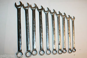 Snap on Tools Metric Combination 12p Standard Length Wrench Set 10pc 20 11mm