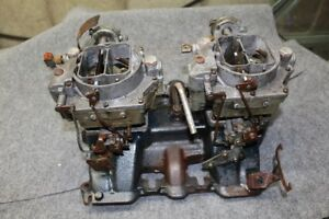 Vintage Cadillac Dual Quad Intake Manifold carburetors 1464589 331 365 Engines
