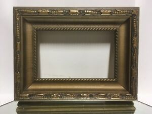 Vtg Aesthetic Art Deco Art S Crafts Wood Picture Frame Fits 3 1 2 X 5 1 2 Lot2