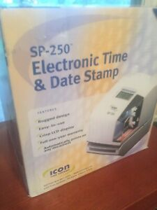 New Icon Time Systems Sp 250 Electronic Time Clock With Time And Date Stamp