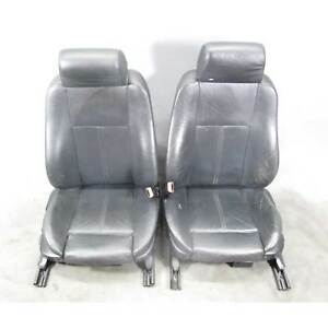 1999 2003 Bmw E39 5 series E38 Factory Front Sports Seat Black Leather Used Oem