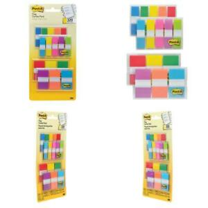 Post it Flags Assorted Color Combo Pack 320 Flags Total 200 1 inch Wide Flags