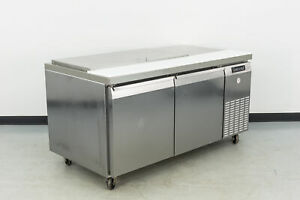 Used Continental Crb67 18m 67 2 Door Refrigerated Sandwich Prep Table