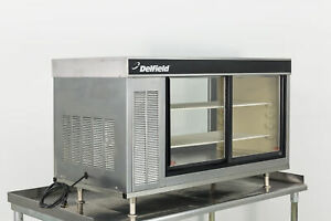 Used Delfield 7048 p 48 Pass thru Refrigerated Display Case