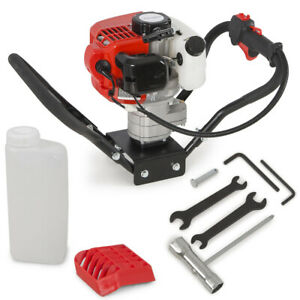 52cc 2 stroke Gasoline Gas One Man Post Hole Digger Earth Auger Machine 2hp Epa