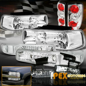 2000 2006 Chevy Suburban Tahoe Chrome Headlight Tail Fog Light Signals