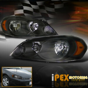 Premium Quality For 2006 2013 Chevy Impala 06 07 Monte Carlo Black Headlights