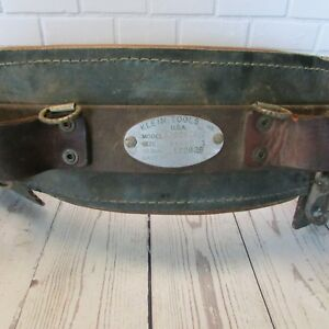 Vintage Klein Tools Leather Lineman Pole Climbing Belt Size 34 42 Model 5268n20