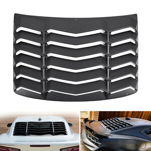 Textured Rear Window Louver Sun Shade Cover Fits 2016 2018 Chevy Camaro Black S