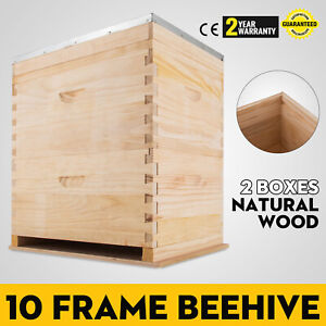 20 Frame Beehive With 20x Frames Tow Level Brood Box Nz Pine Timber Wood Us