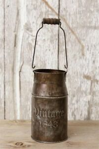 Primitive Country Vintage 1843 Milk Can Farmhouse Free Shipping