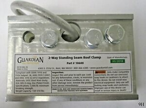 Guardian Fall Protection 2 way Universal Standing Seam Roof Clamp