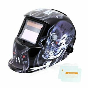 Tekware Welding Helmet Solar Power Auto Darkening Hood Welder Mask Breathable Gr