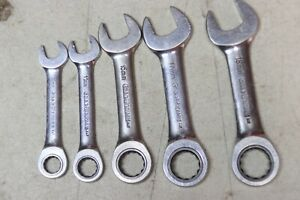 Gearwrench Stubby Metric Combination Wrench Lot Of 5 Pieces