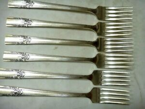 Vintage Rogers Aa Heavy Successor Silverplate Flatware 6 Dinner Forks