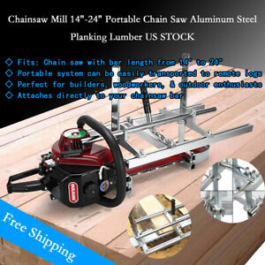 Us Portable Chainsaw Mill 14 24 Chain Saw Mill Aluminum Steel Planking Lumber