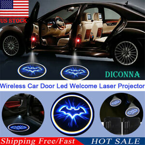 Us Wireless Car Door Led Welcome Laser Projector Logo Ghost Shadow Light Batman